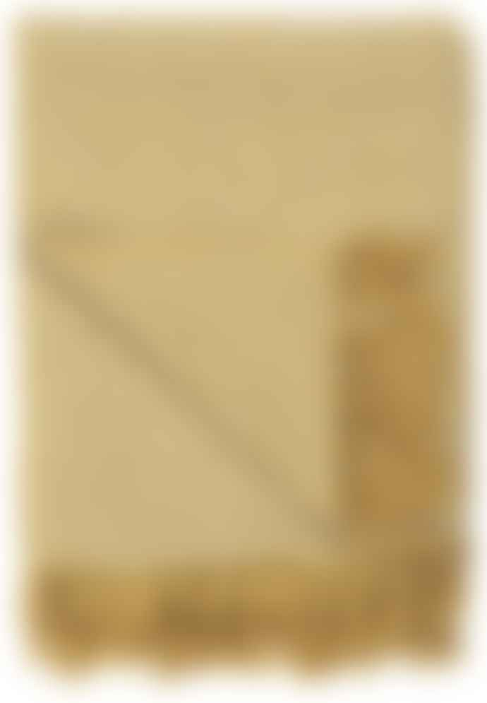 Ib Laursen Cream & Yellow Zig Zag Pattern Throw