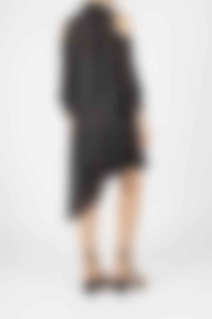 Jovonna London Black Amulet Asymmetrical Polka Dotted Dress