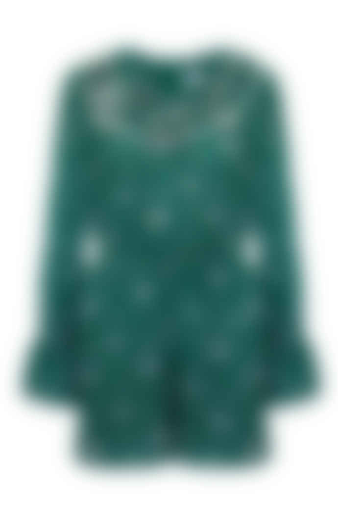 Jovonna London Green Cauri Floral Printed Frilly Playsuit