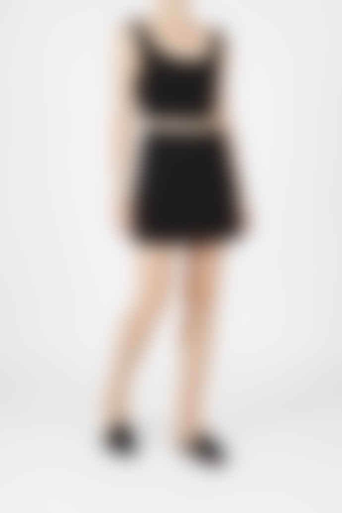 Jovonna London Black Chunli Jacquard Mini Skirt