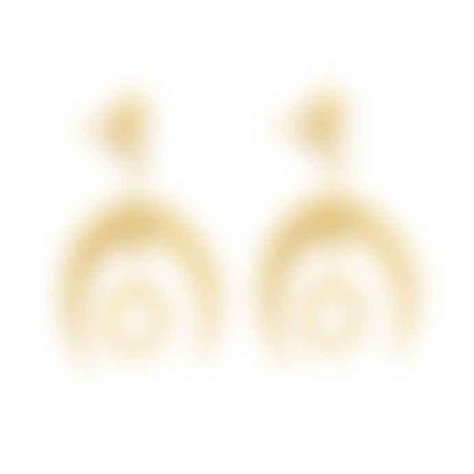 Zoe and Morgan  Hatha Gold Earrings