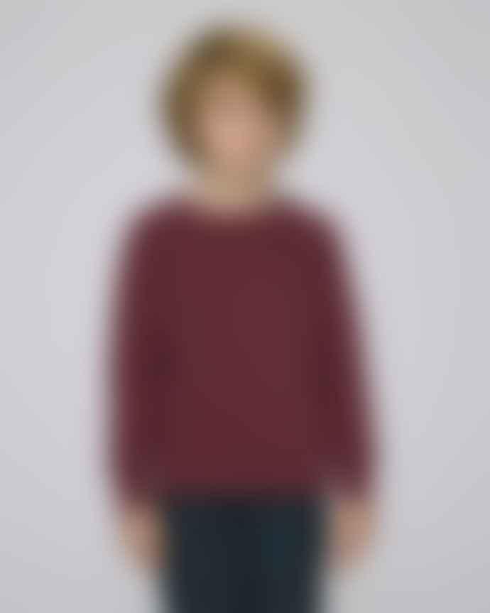 Found Hea Burgundy Kids Organic Sweatshirt