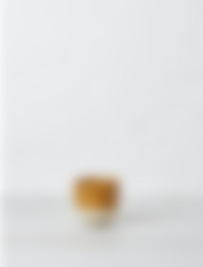 Bloomingville Retro Two Tone Dijon & White Speckled Stoneware Flower Pot