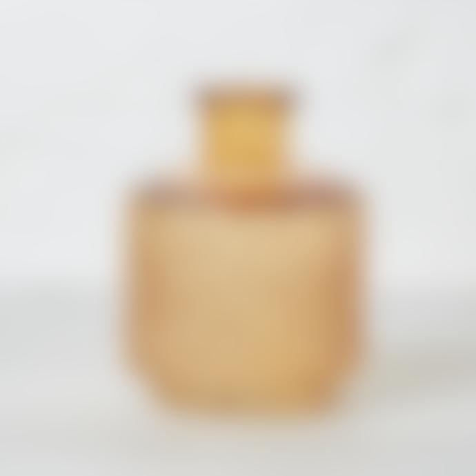 Bloomingville Amber Hexagonal  Patterned Textured Glass Vase