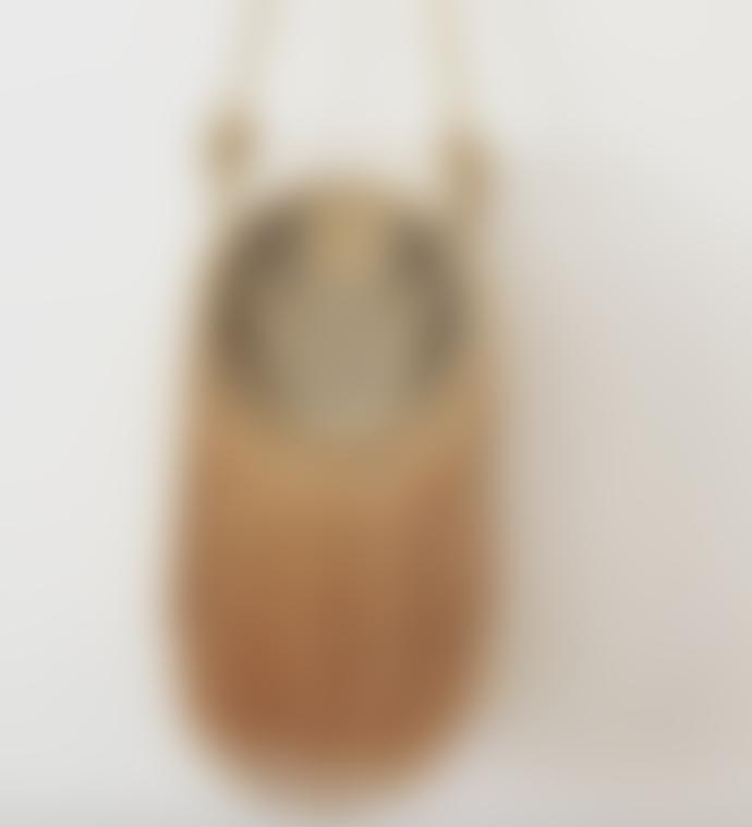 The Sofia Handmade Palm Fringe  Bag