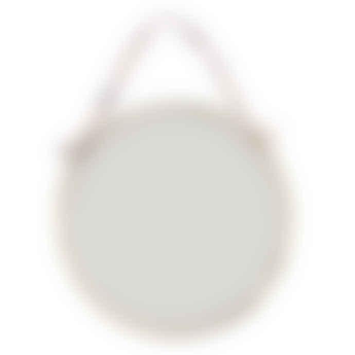 Nkuku Small Round Kiko Brass Mirror