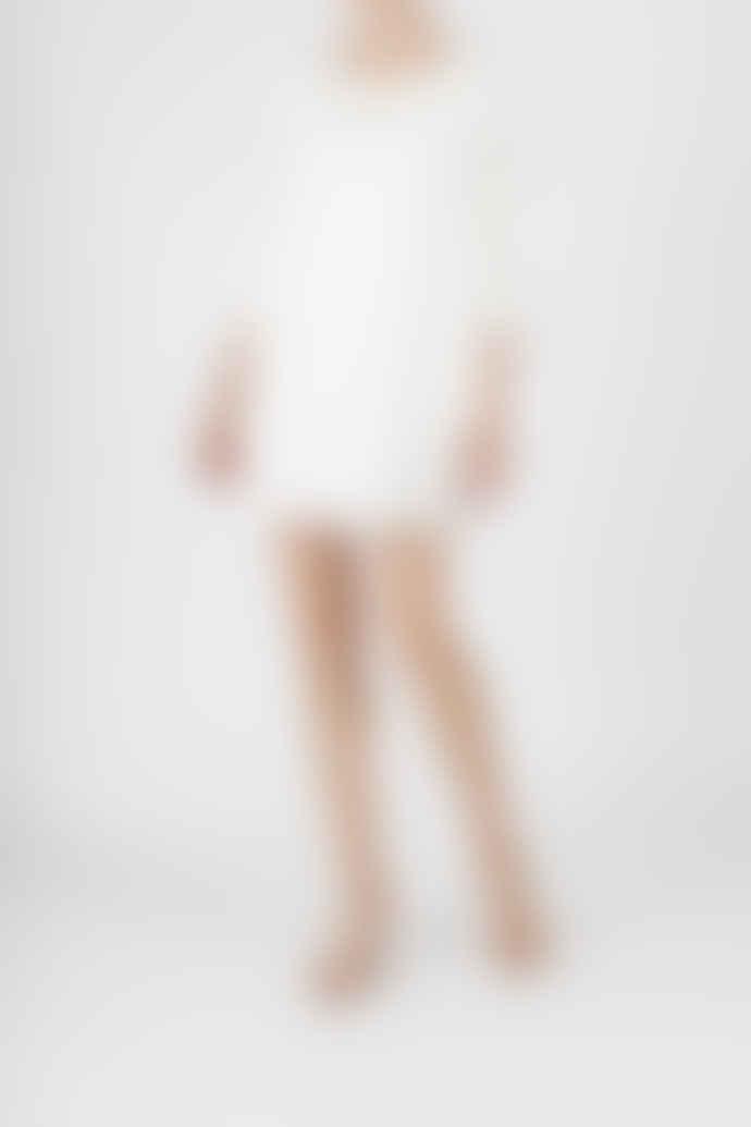Jovonna London White Coline Ruffled Lace Dress