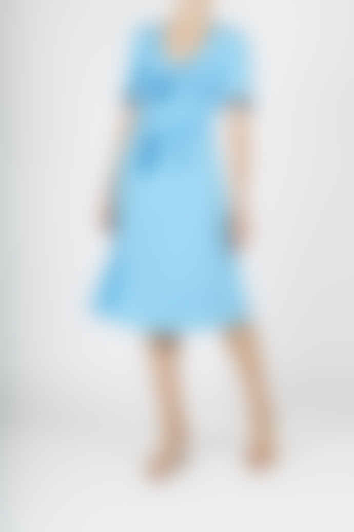 Jovonna London Blue Elmas Tie Up Midi Dress