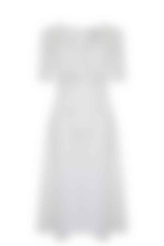 Jovonna London White Elmas Tie Up Midi Dress