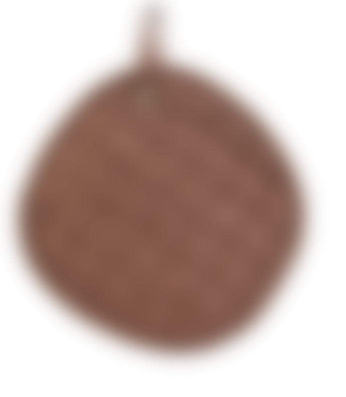 House Doctor Set of 2 Brown Linen Potholders