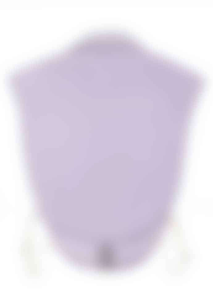 Purple Rain Loose Poplin Collar