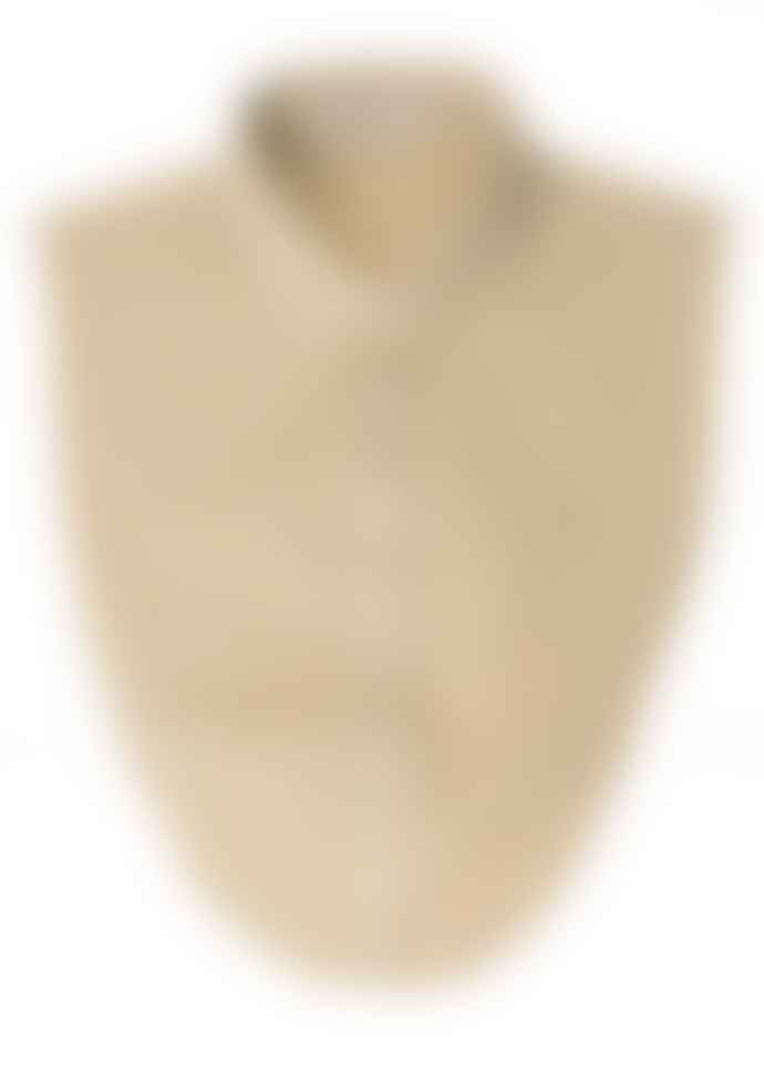 La Collerette Khaki Macadamia Loose Poplin Collar