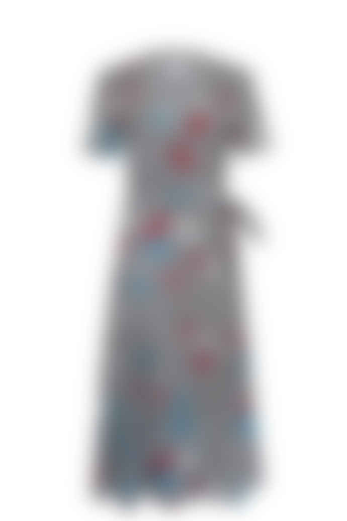 Jovonna London Multi It's A Wrap3 Floral Printed Wrap Cotton Dress