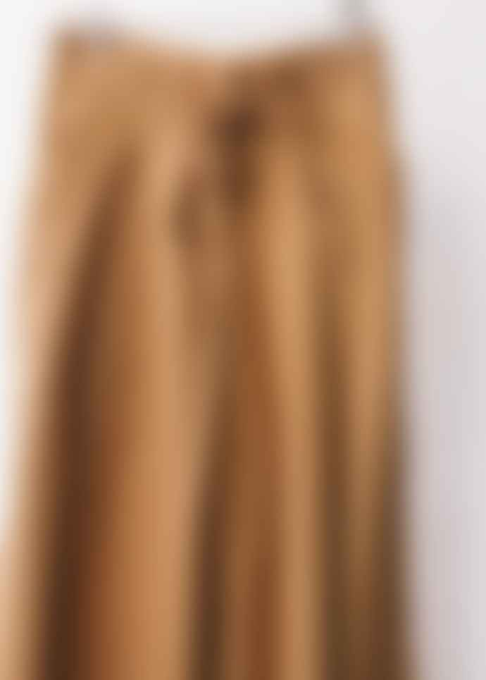 People Tree Hazel Twill Organic Cotton High Waist Trousers