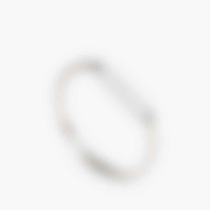 The Boyscouts Sterling Silver Modern Bangle With Lock