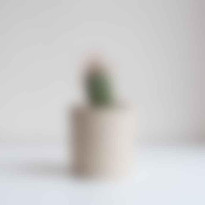 Dor & Tan Handmade Unglazed Spekled Plant Pot Small