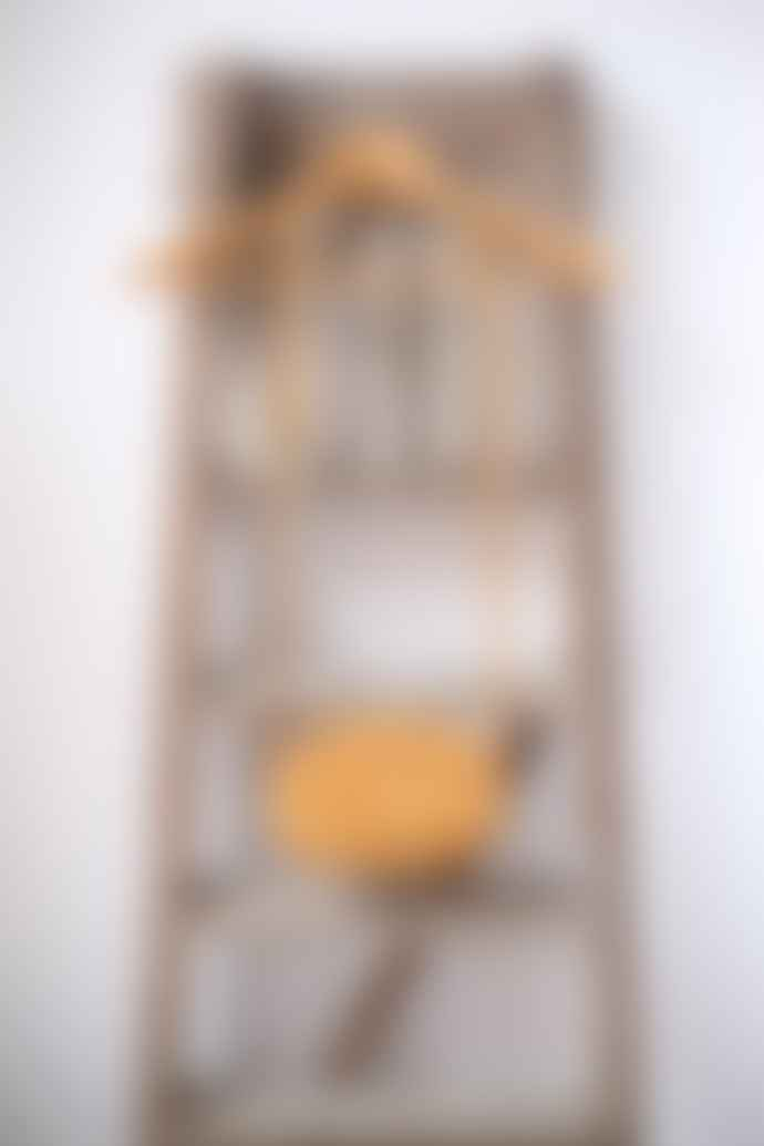 Neuville Ovale Yellow Suede Cross Body Bag