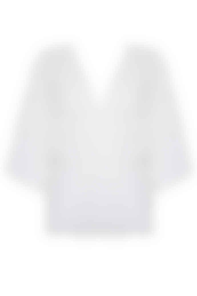 Jovonna London White Roy Semi Sheer Textured Top
