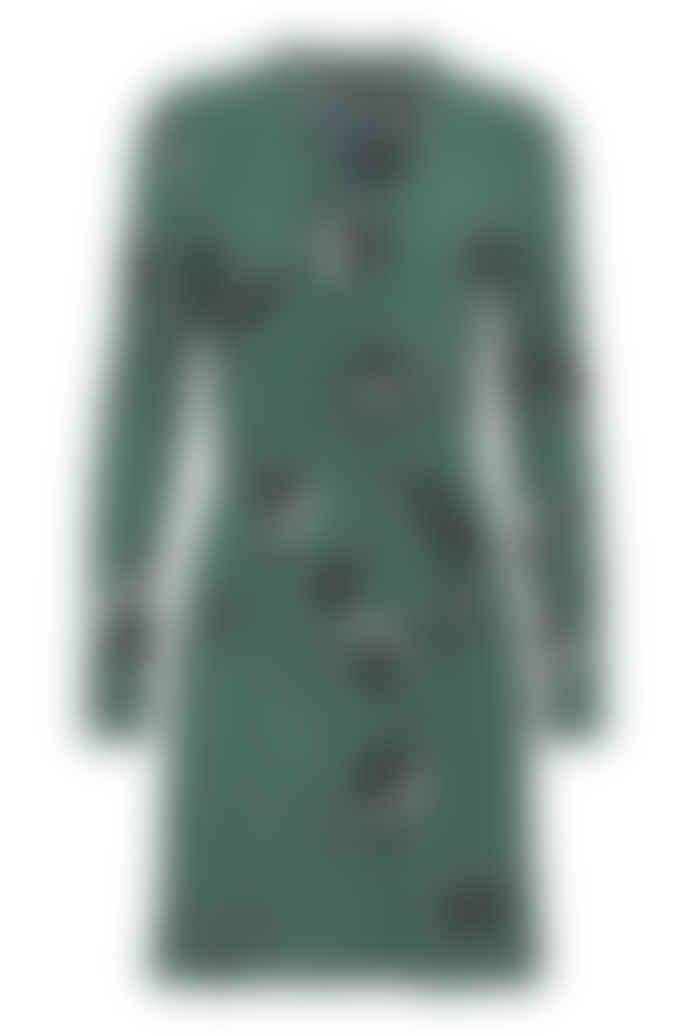 ICHI Banks Printed Dress