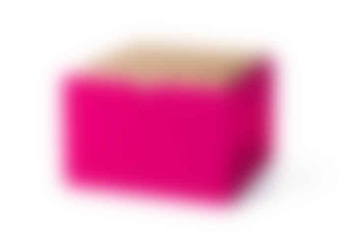 Korridor Pyramid Trinket Box, XLARGE- Oak Dark blue Neon pink and Burnt red