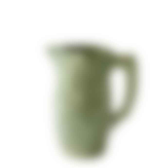 """Manufacture De Digoin Porcelain Pitcher """"Leaves"""""""