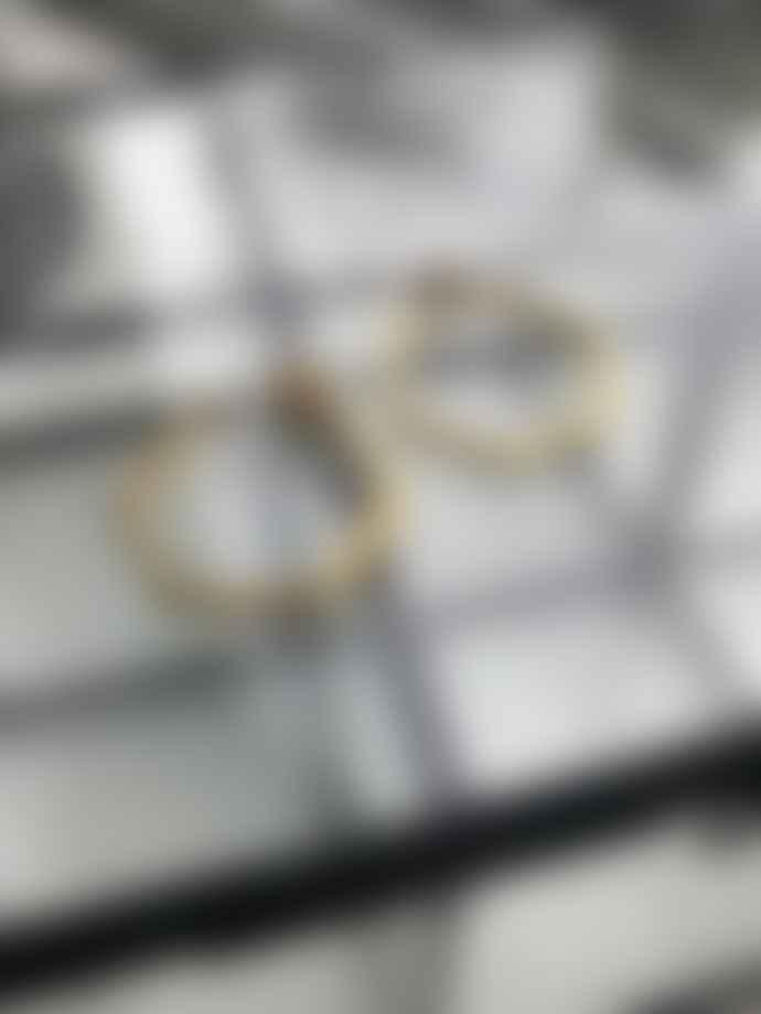 silver jewellery Small Gold Hexagon Earrings