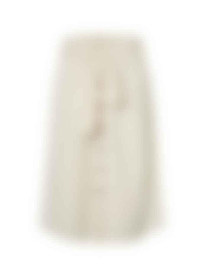 Pieces White Pepper Chris Midi Skirt