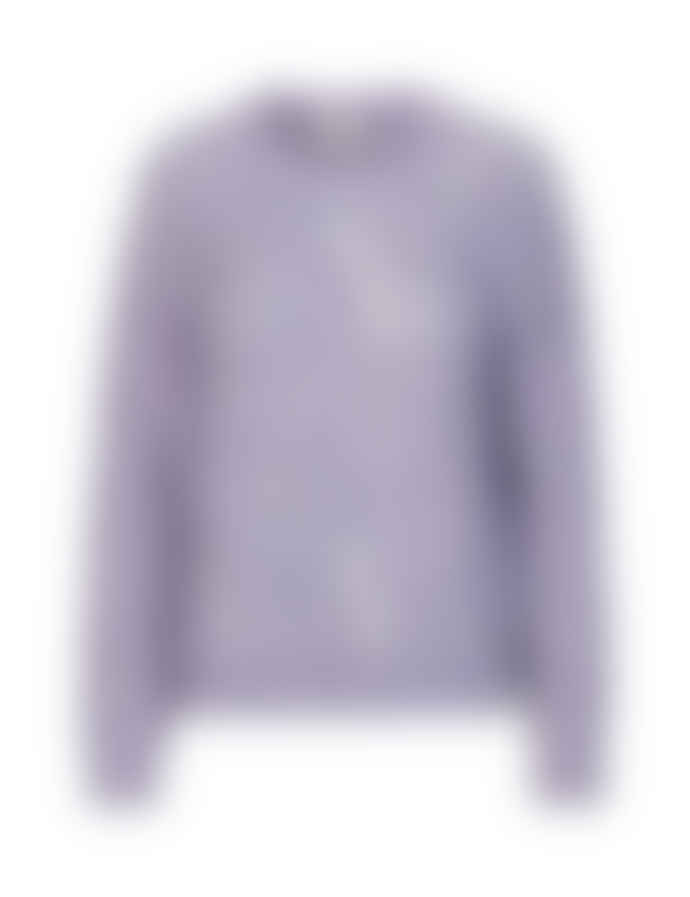 Levete Room Pink Blue Mauve Melange Mohair Mix Chunky Knit Sweater