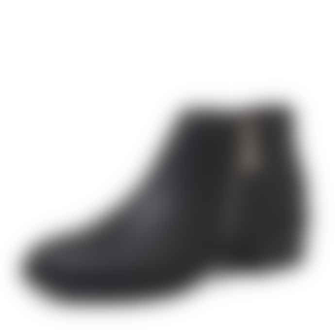 Emu  Black Leather Acton Ankle Boot