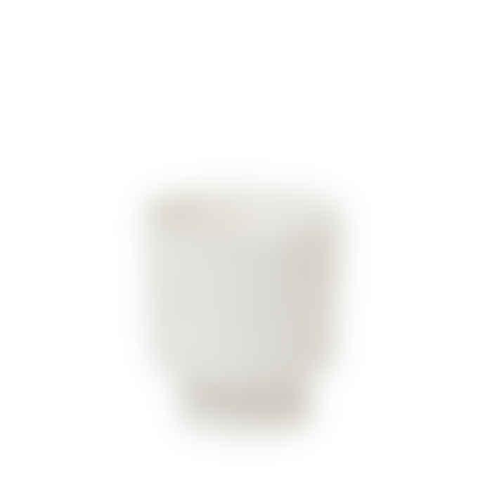 Broste Copenhagen White Textured Plant Pot