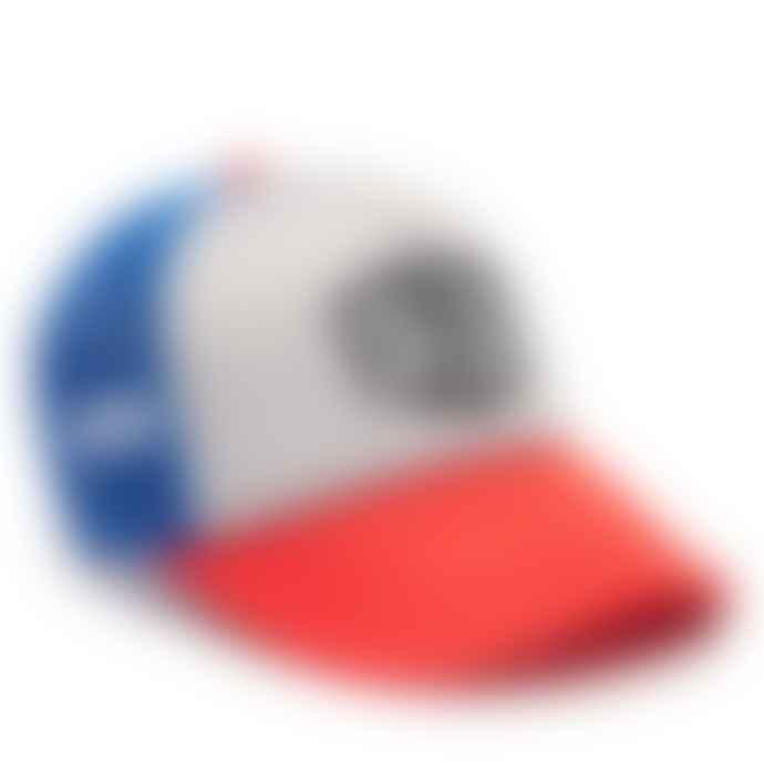 Deus Ex Machina Blue Red Baylands Trucker Cap