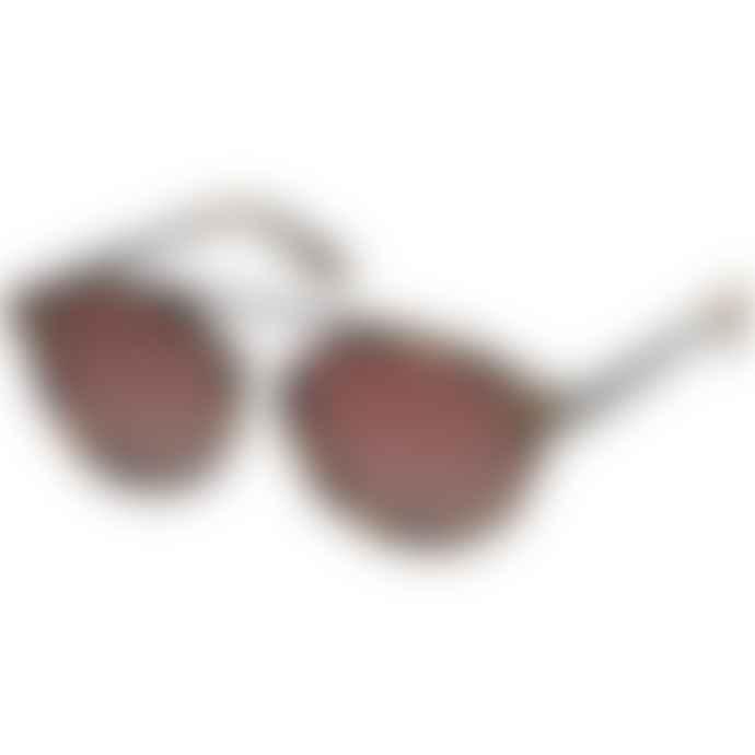 Pilgrim Brown Tortoiseshell Frame Jeanne Sunglasses