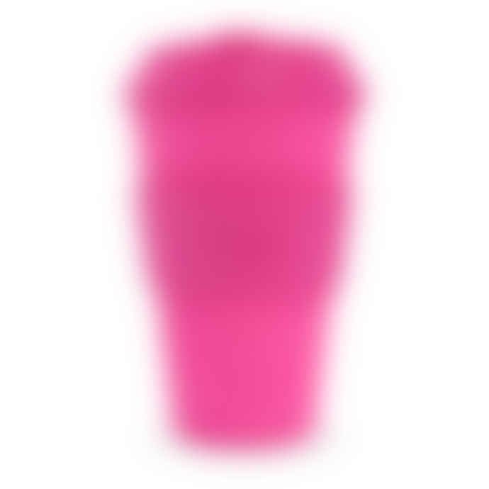 Ecoffee Cup Bright Pink 'Pink'd' Reusable 14 oz Bamboo Coffee Cup With Pink Silicone Lid And Sleeve