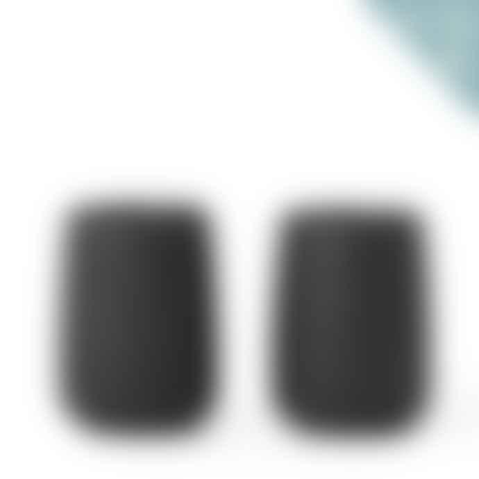 Viva Scandinavia Black Large Set Of 2 Nicola Tea Cup