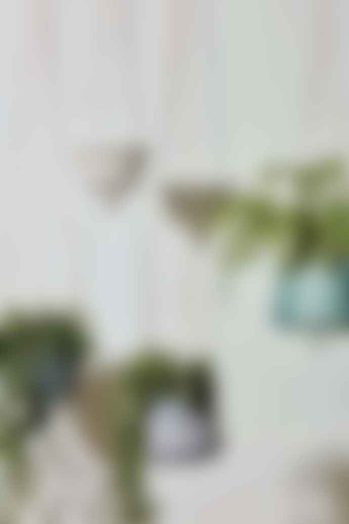 Broste Copenhagen Stoneware Isaballa Green Hanging Plant Pot