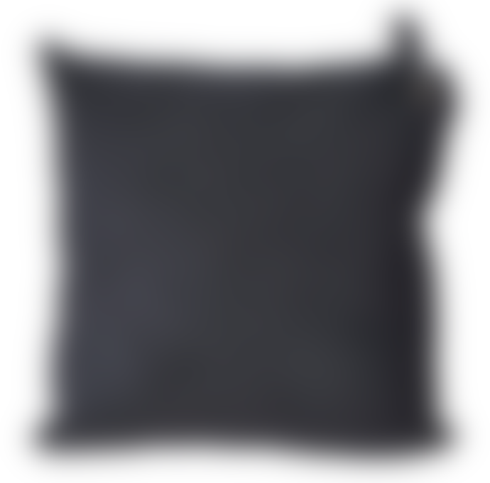 Marram Trading  Black Velvet Basketweave Cushion with Tag