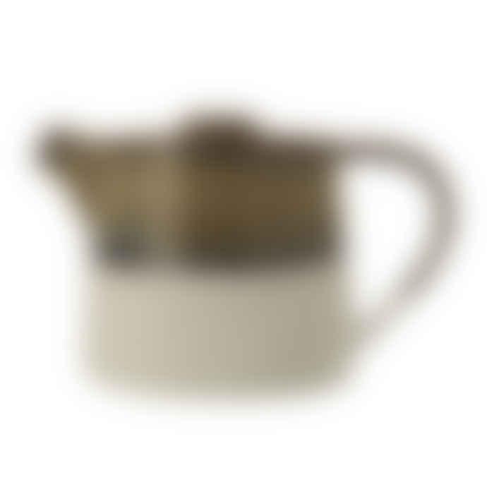 Bloomingville Sage + White Stoneware Teapot