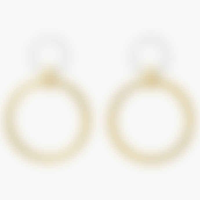 Aym Reykjavik Ice Double Hoop Earrings