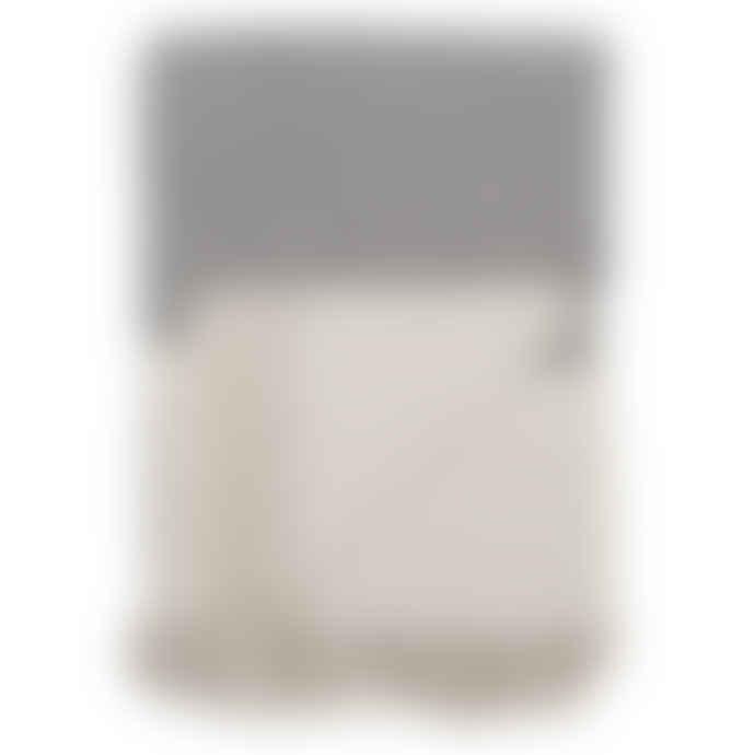 Bloomingville Large Grey & Off White Cotton Throw