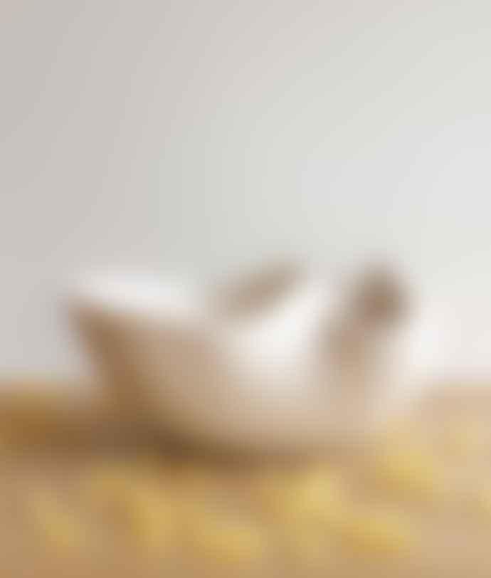 Bussoga White Galet Ceramic Bowl