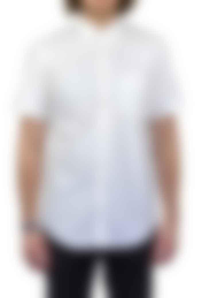 Portuguese Flannel White Dobby Short-Sleeved Shirt