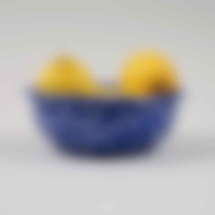 HAY Enamel Bowl - Speckle Blue
