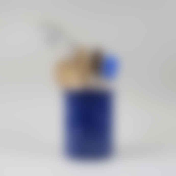 HAY Enamel Utensil Holder - Speckle Blue