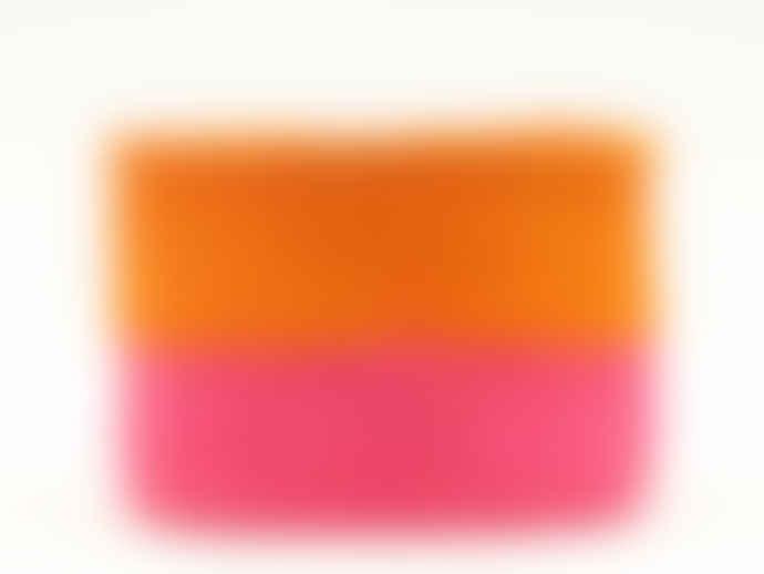 The Basket Room Xs Pink & Orange Block Colour Woven Basket