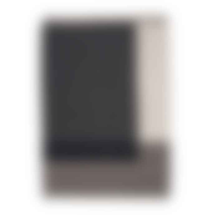 Ferm Living Grey Colour Block Throw