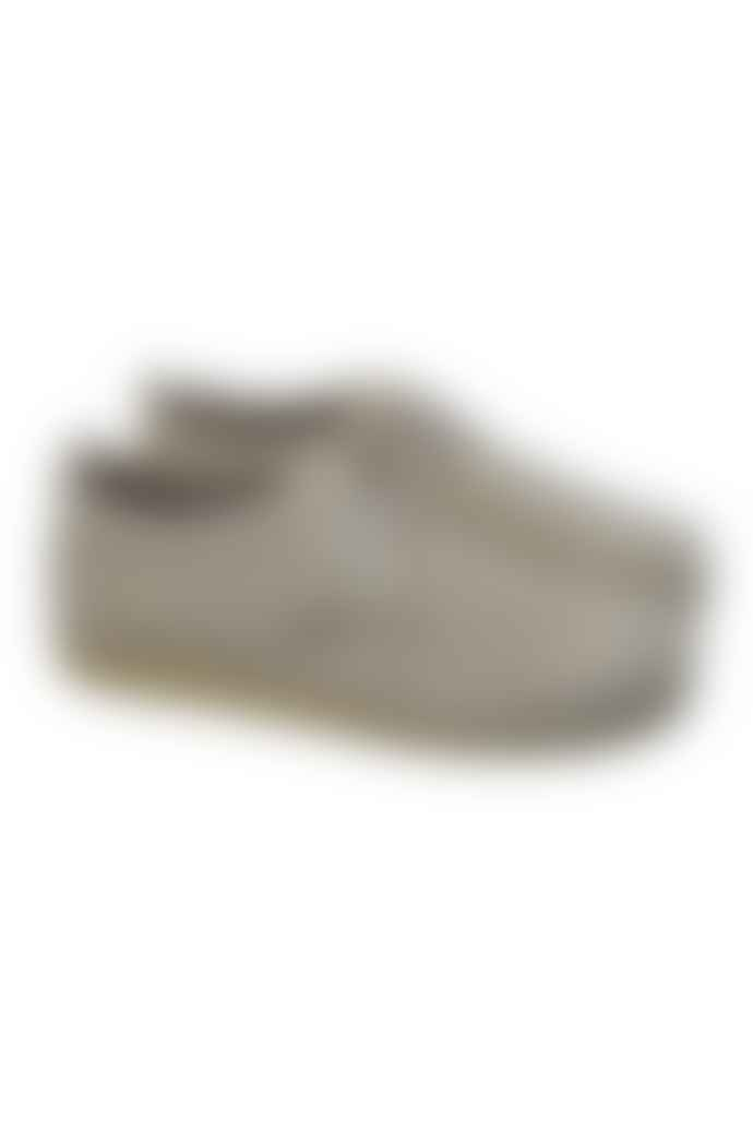 Clarks Originals Off White Ashton Suede Shoes