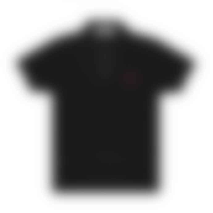Comme Des Garcons Play Comme des Garçons Little Red Heart Polo Shirt (Black) P1T204
