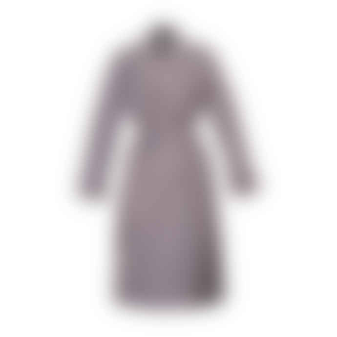 Moves by Minimum Lilac Dassi Checkered Trench Coat