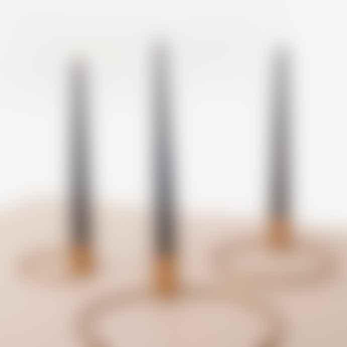 KOPERHUIS Orbital Set Of 3 Brass Candle Holder