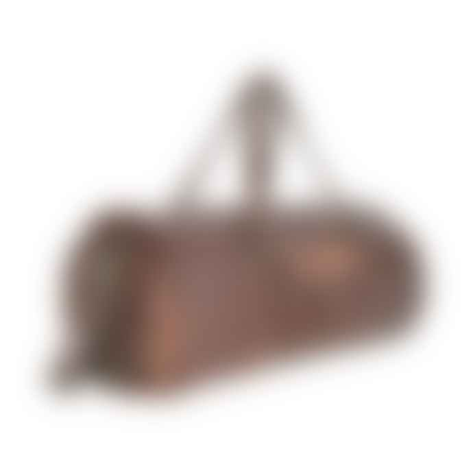 Vida Vida 20 Inch Round Leather Duffel Bag